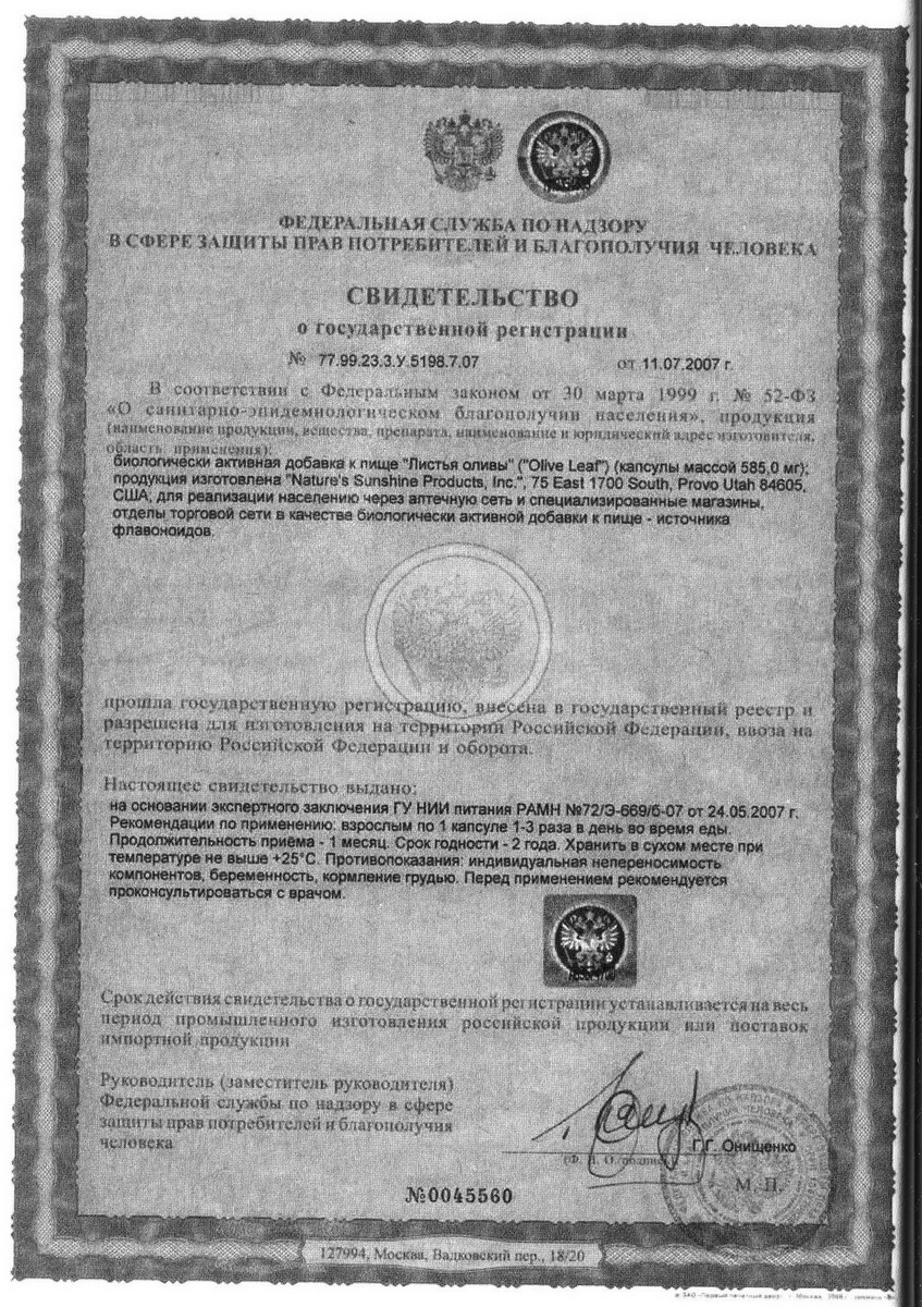 Olive-Leaf-certificate